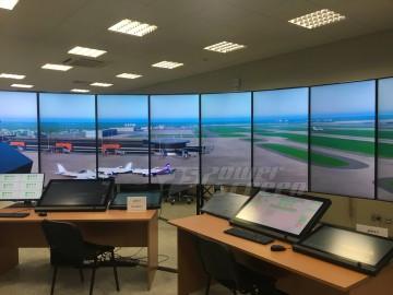Видеостена 360 градусов для тренажера авиадиспетчеров