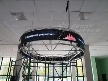 Цилиндрический LED экран для зоны reception