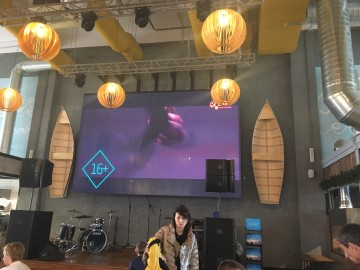 Кабинетный LED экран для фуд-корта